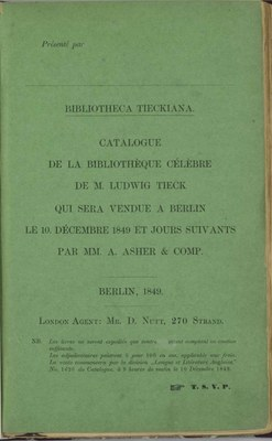 Umschlag Catalogue 1849