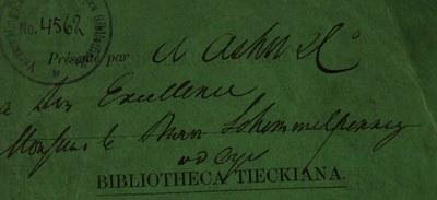 Zueignung Umschlag BT 1849